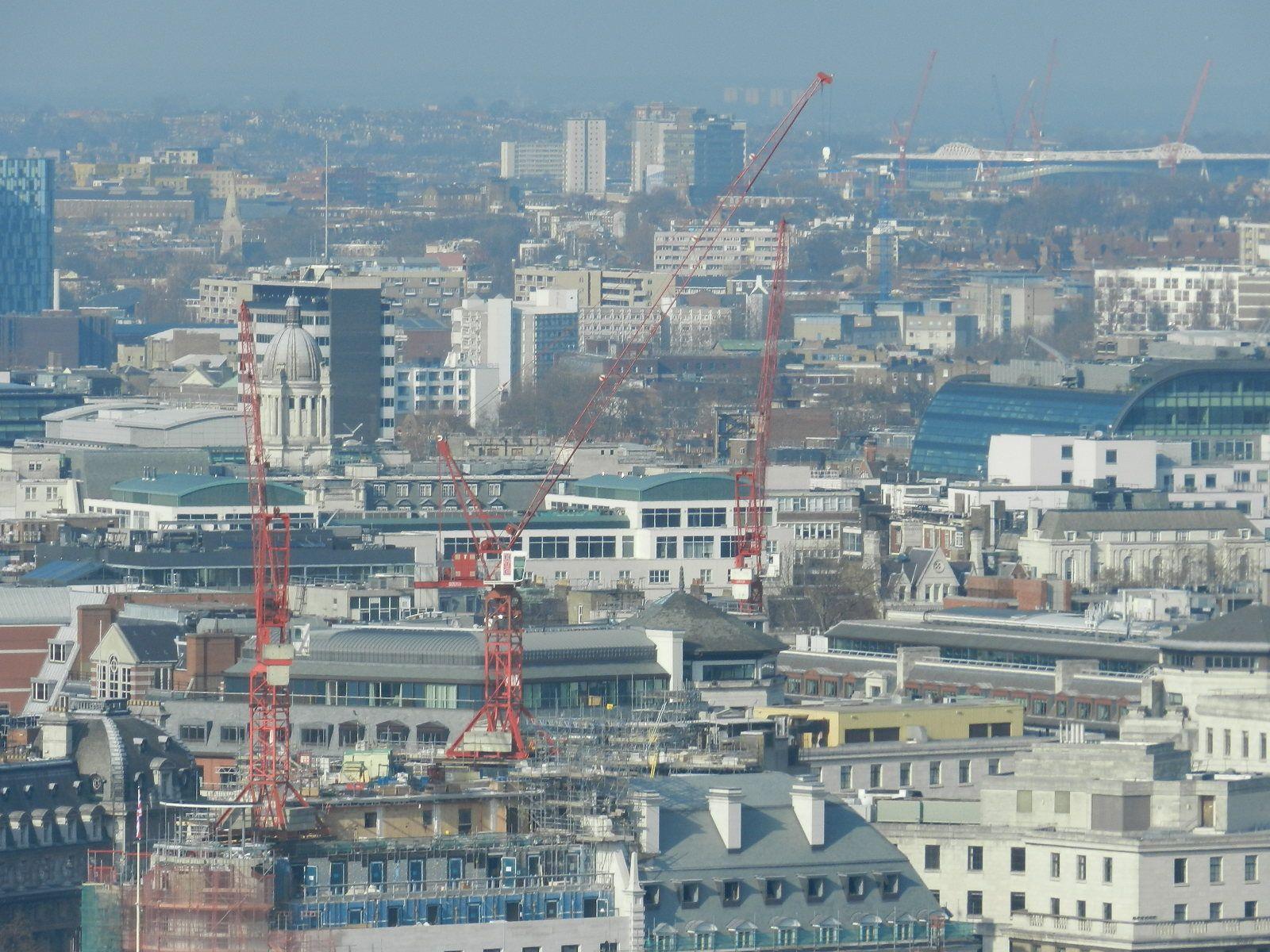 Londres em obras, preparando-se para as Olimpíadas 2012.