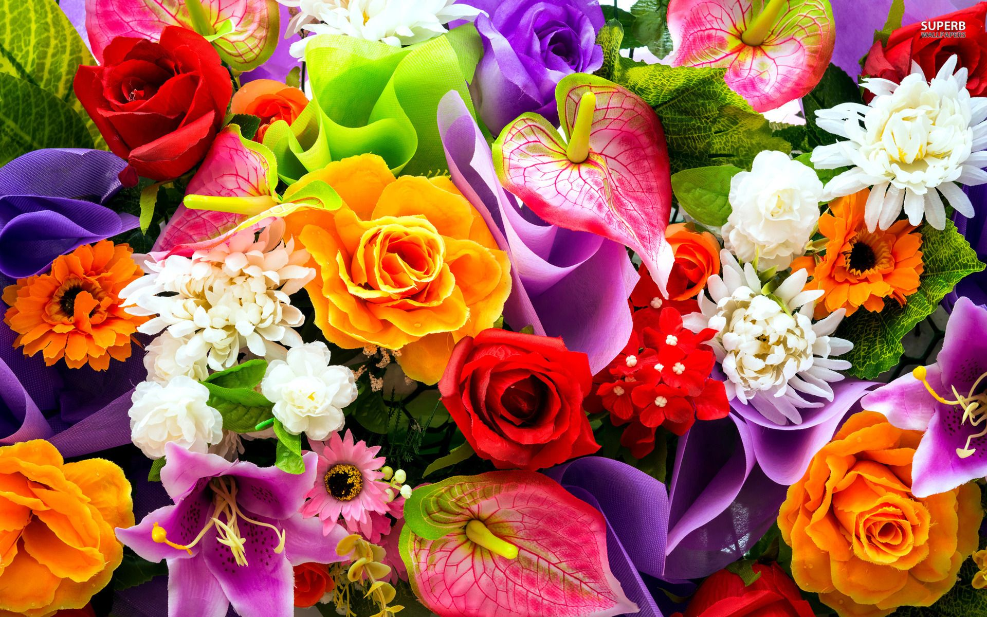 colorful bouquet wallpapers - flowers wallpapers | colors