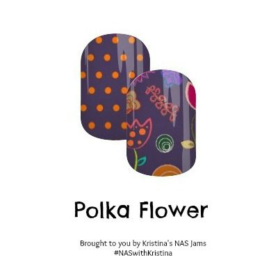 Polka Flower - Nail Art Studio Jamberry nail wraps #floralnails #flowers #polkadots #purple #nailart #jamberry