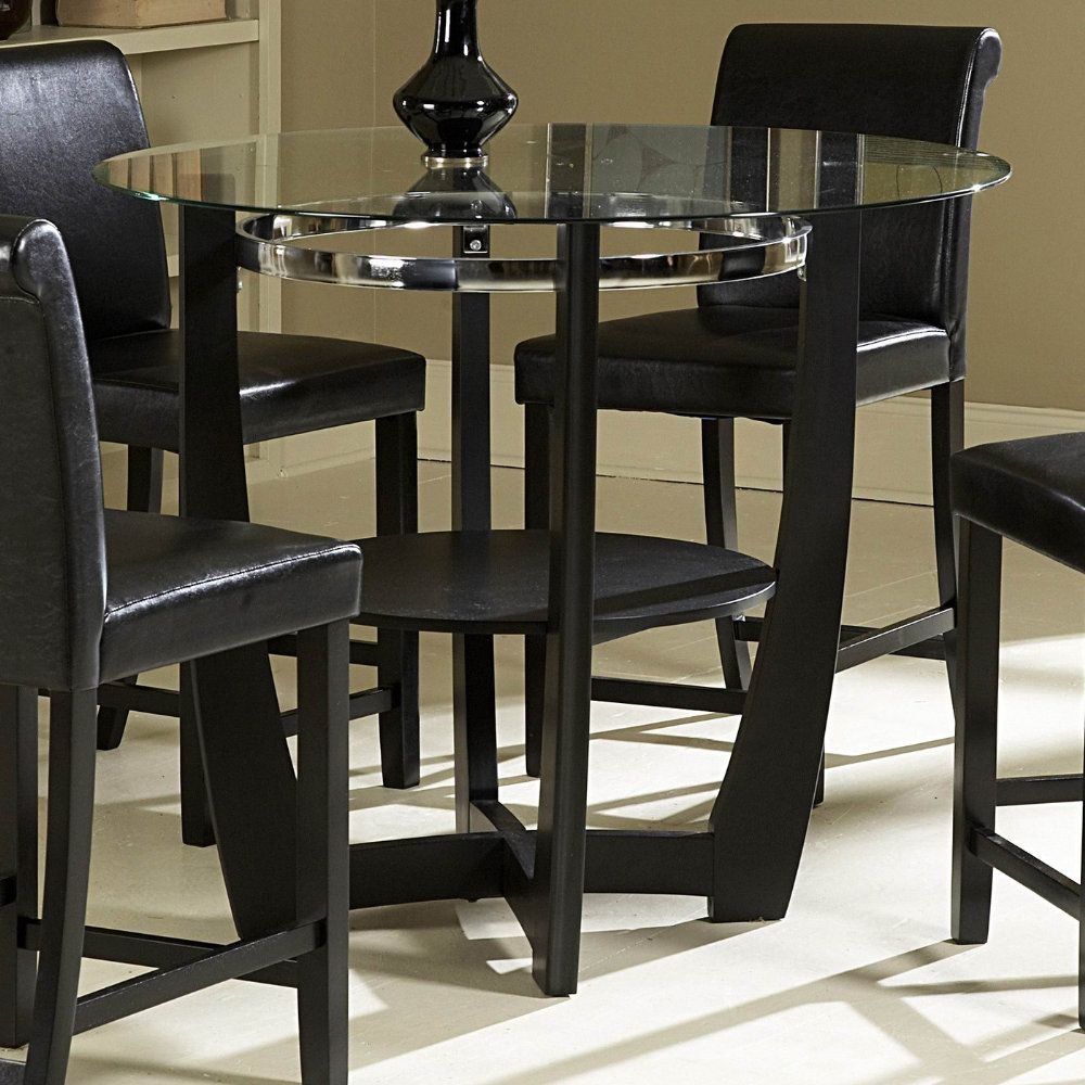 Charming The Glass Topped Sierra Collection Adds Flair To Any Contemporary Casual  Dining Space. The Black Finished Table Base Of The Counter Height Table Is  Set Off ...