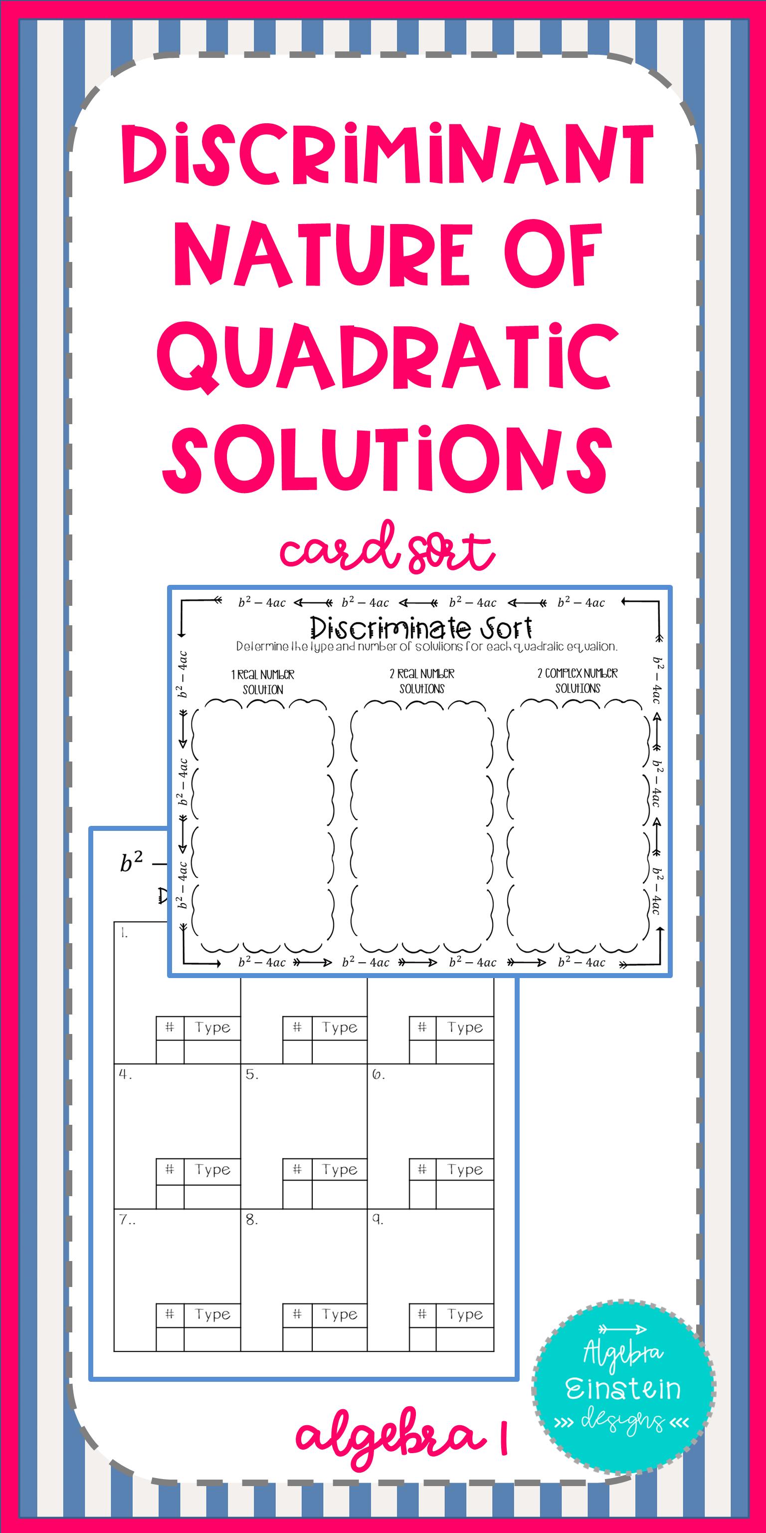 Solving Quadratics Discriminate