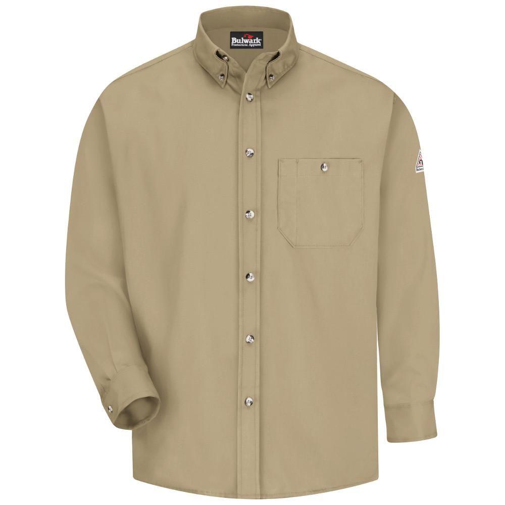Green dress shirt mens Excel FR Menus Large Khaki Green Dress Shirt  Products
