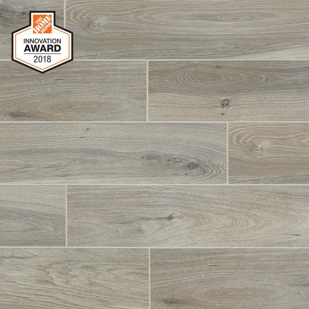 Lifeproof Ember Wood 6 In X 24 In Glazed Porcelain Floor And