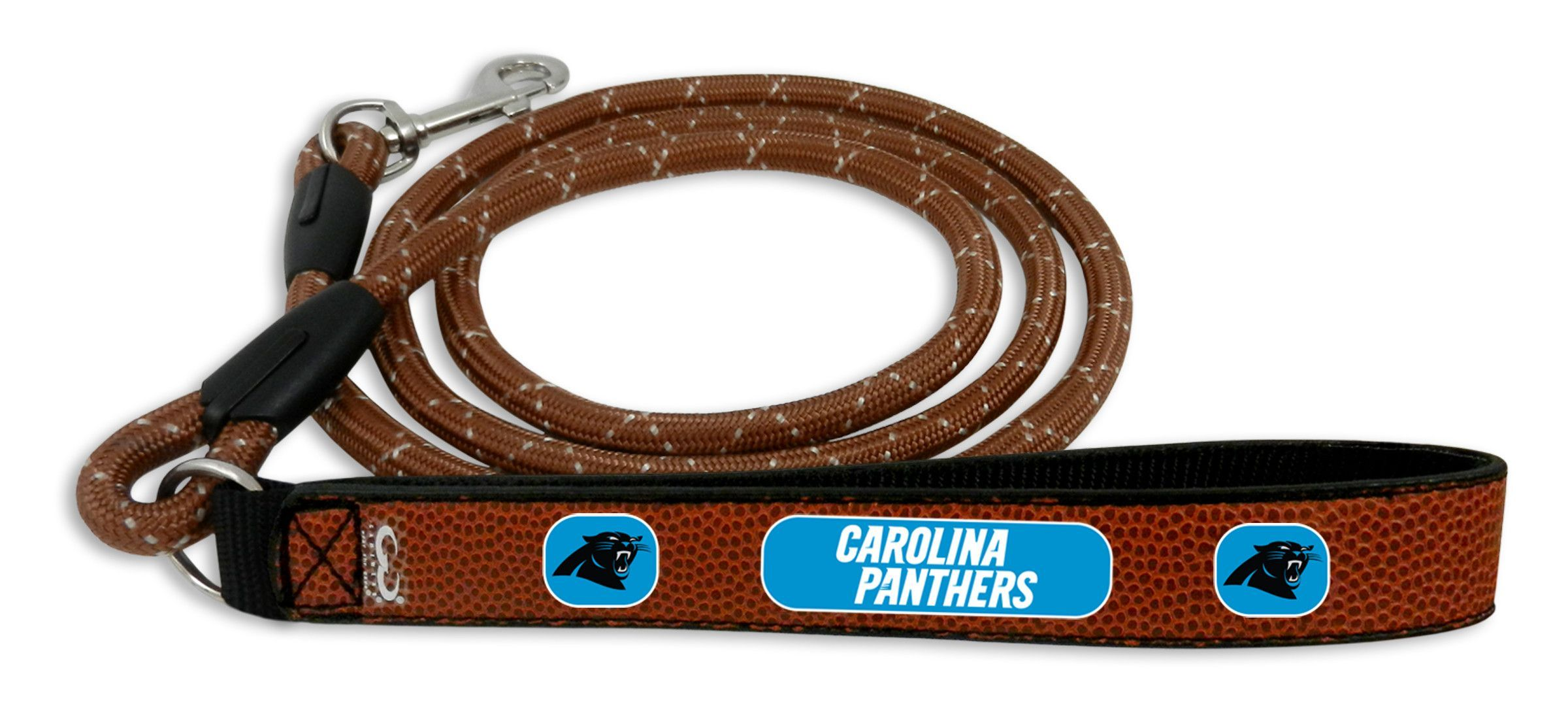 119308025 Carolina Panthers Football Leather Leash - L