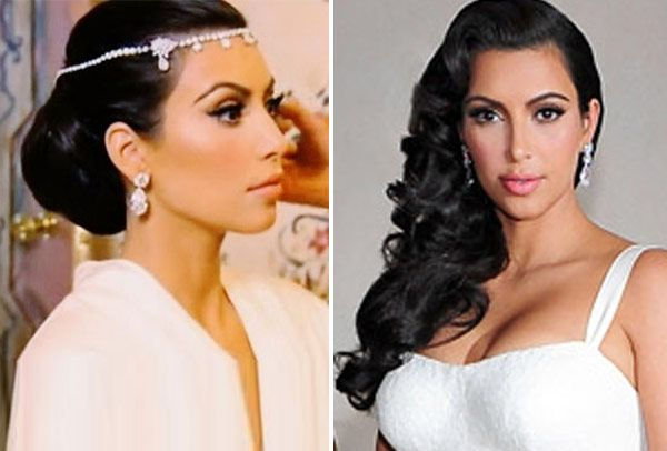Kim Kardashian How She Will Wear Her Hair At Her Wedding Kim Kardashian Wedding Wedding Hair And Makeup Bridal Hair Tips