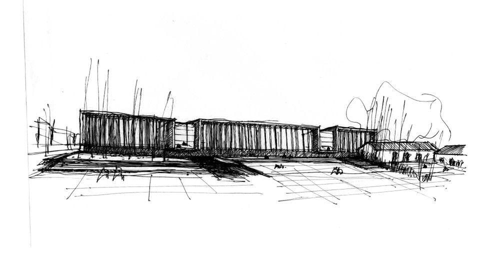 Galeria De Segundo Lugar Concurso Nacional De Anteproyectos Centro Cultural De La Legislatura Del Neuquen Argentina 6 Bocetos Arquitectura Dibujo De Arquitectura Bocetos Arquitectonicos