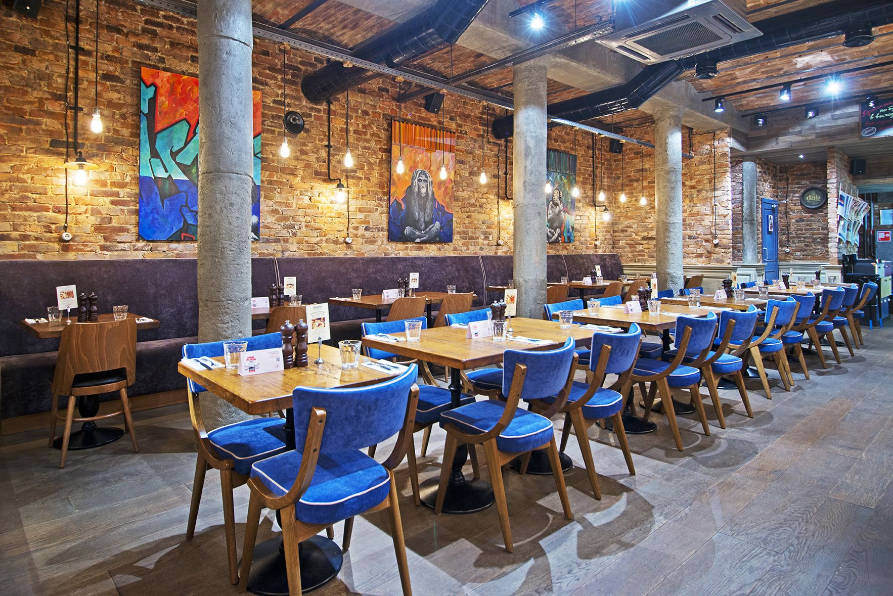 industrial style restaurant furniture. Basic Collection Il Fornetto Blue Moscow Restaurant Design Furniture Russia Industrial Style L