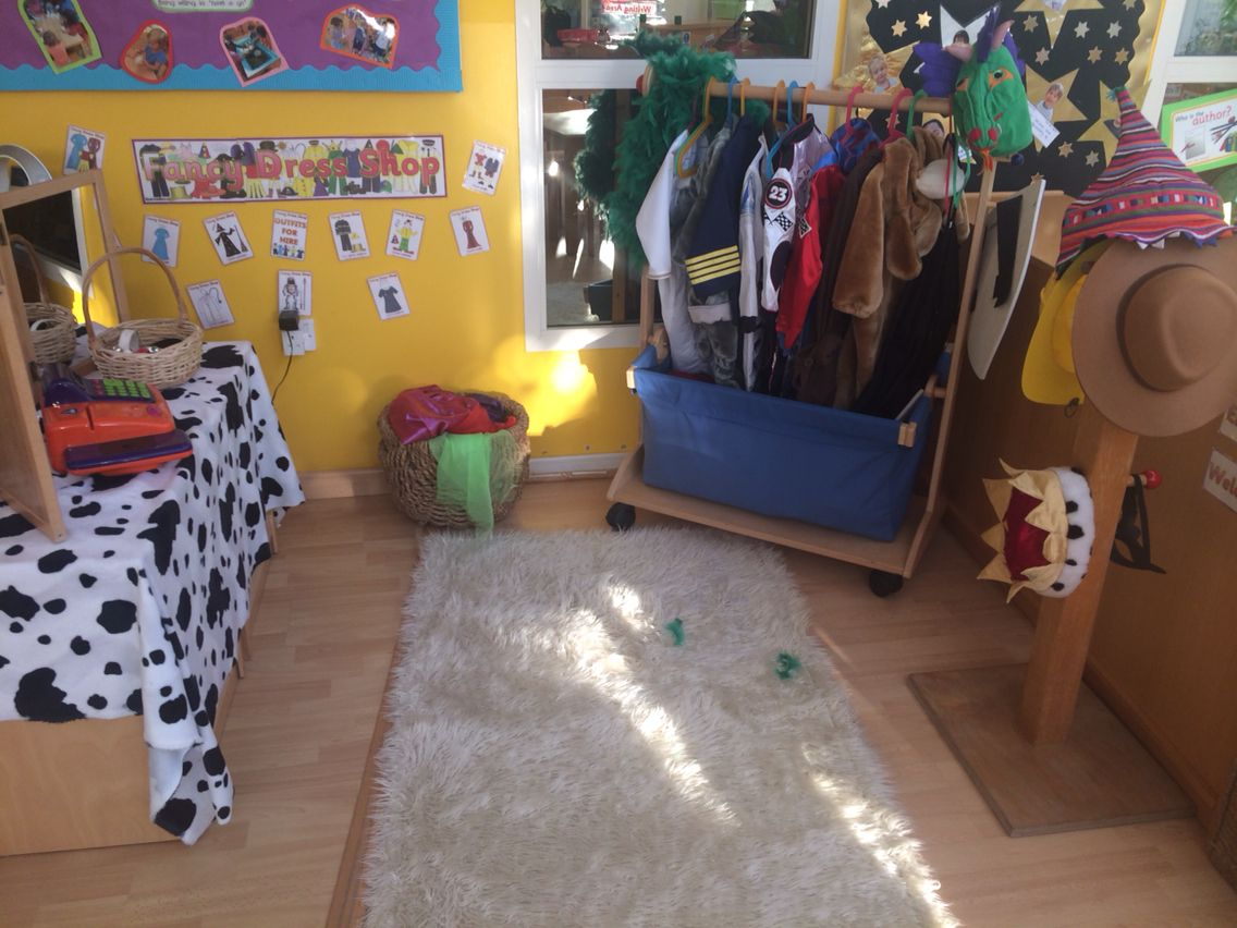 Classroom Dress Up Ideas ~ Fancy dress shop role play area eyfs up imaginative