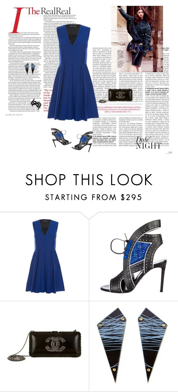 """""""Date Night Dressing with The RealReal"""" by ketp ❤ liked on Polyvore featuring Proenza Schouler, Roberto Cavalli, Chanel, Sarah Angold, Yves Saint Laurent and TheRealReal"""