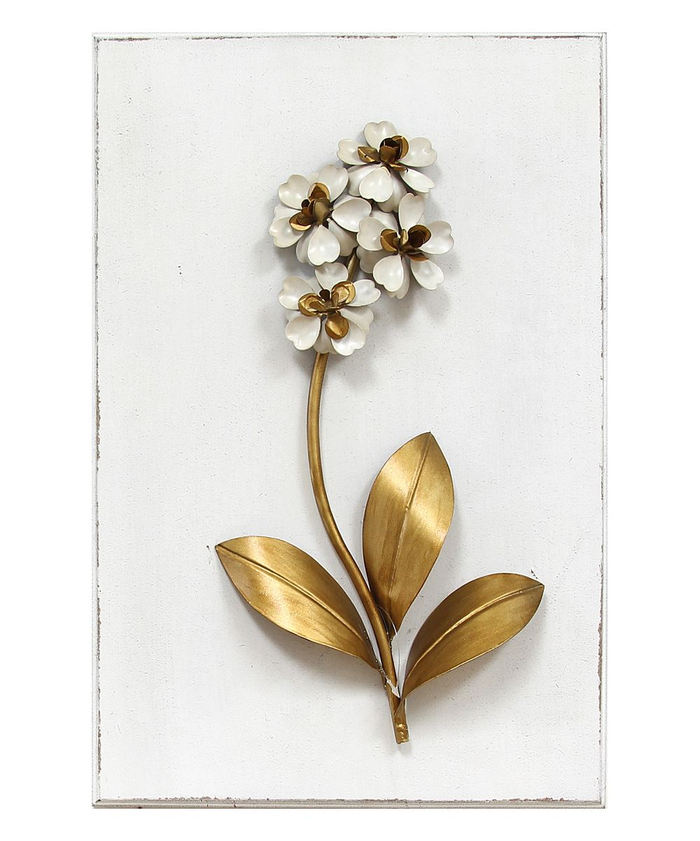 White u bronze elegant floral iii wall decor remodeling ideas