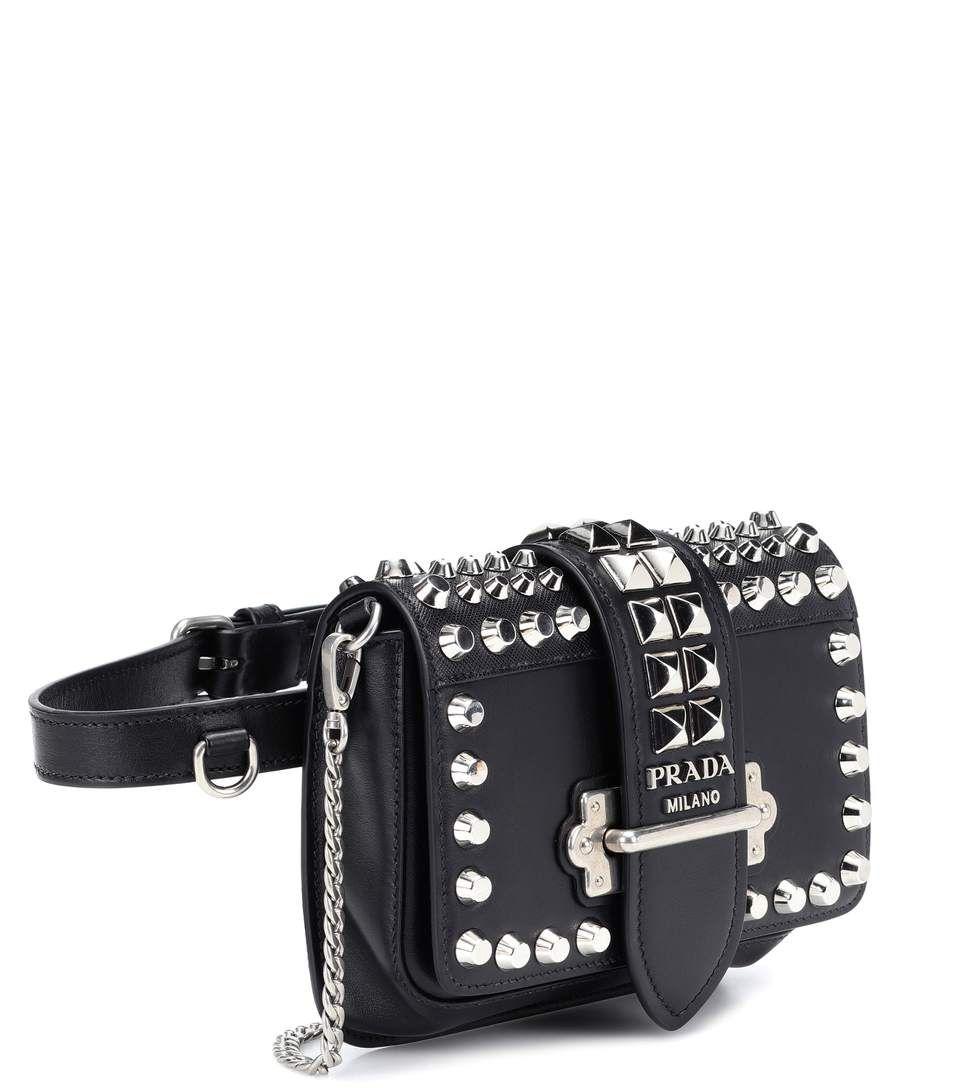 950ed1cf46 Cahier Studded Leather Belt Bag - Prada | mytheresa | Purses in 2019 ...