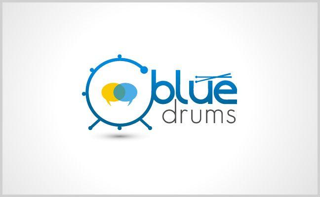 Blue Drum Designed for Social network site based on Drum lovers. http://www.logodesigngear.com