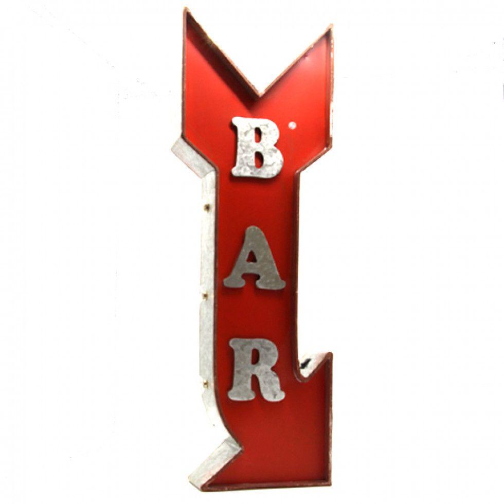 Sehr Enseigne ,lumineuse fleche,bar décoration.vintage.cocktails&cie  TW48