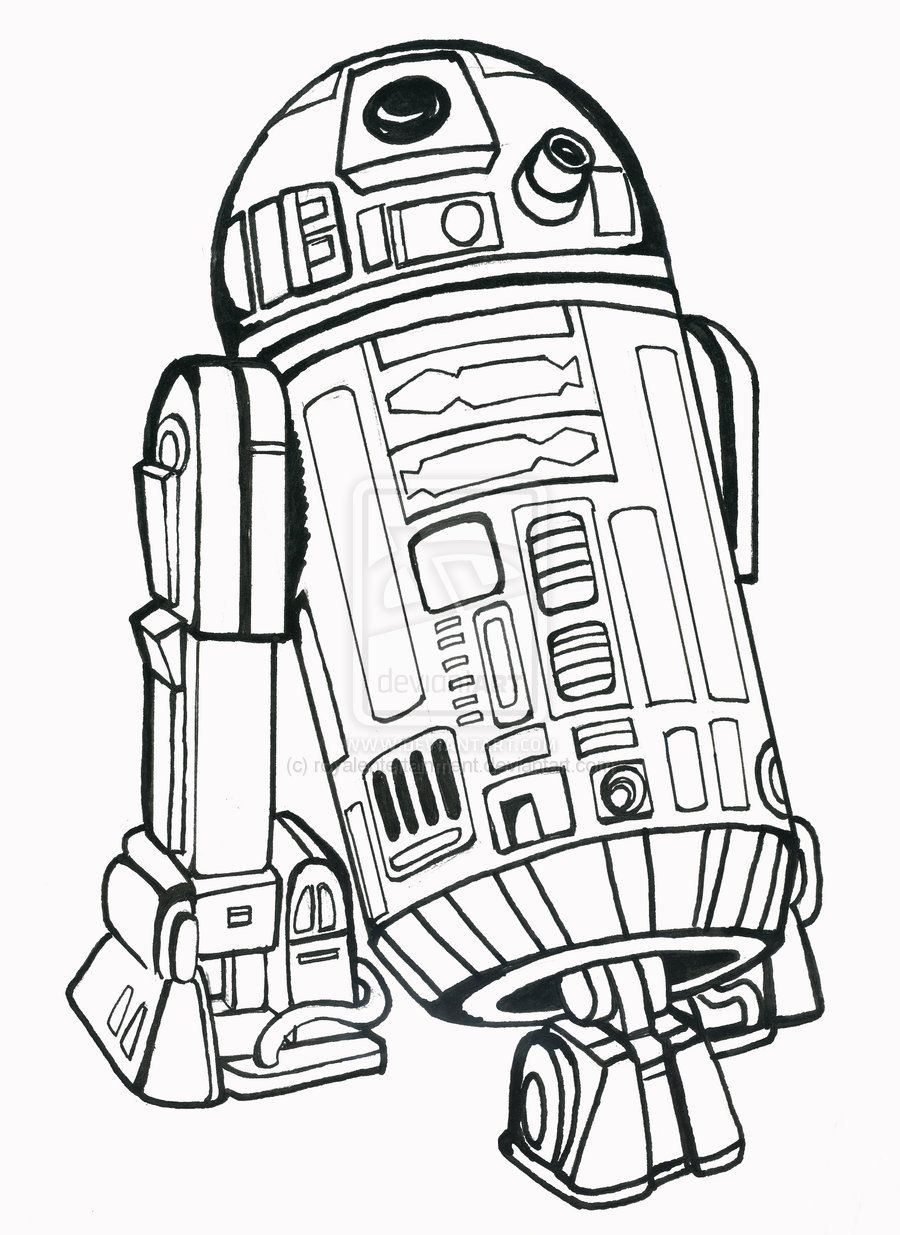 R2D2 Coloring Page Download Or Print The Free R2D2 Droid Coloring Page And Find