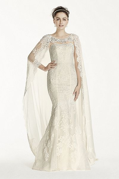 New Wedding Dresses And Bridal Gowns At David S Bridal Cape Wedding Dress Boat Neck Wedding Dress Wedding Dresses