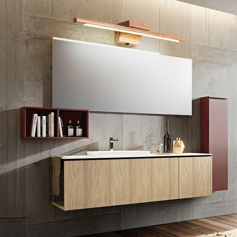 60cm Luxurious Led Mirror Light 85 265v Bathroom Wood Wall Lights Fixture Acrylic Dressing Room Makeup Lamp Vanity Wood Wall Bathroom Wood Bathroom Led Mirror