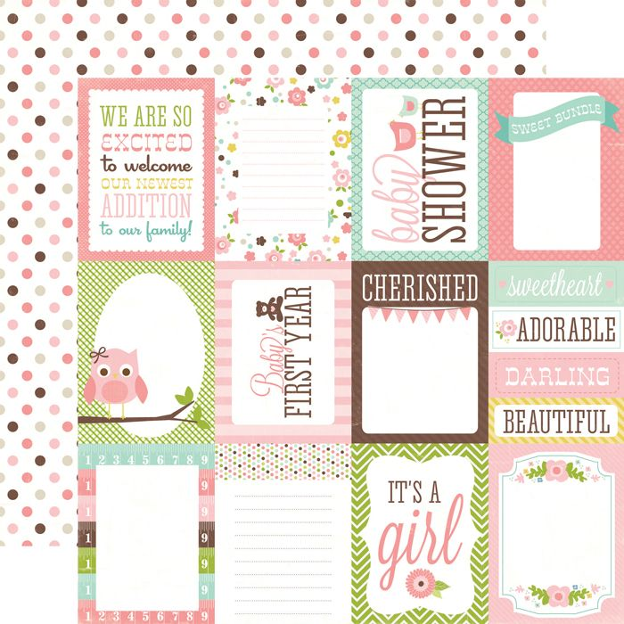 Echo Park - Bundle of Joy Collection - Girl - 12 x 12 Double Sided - double lined paper