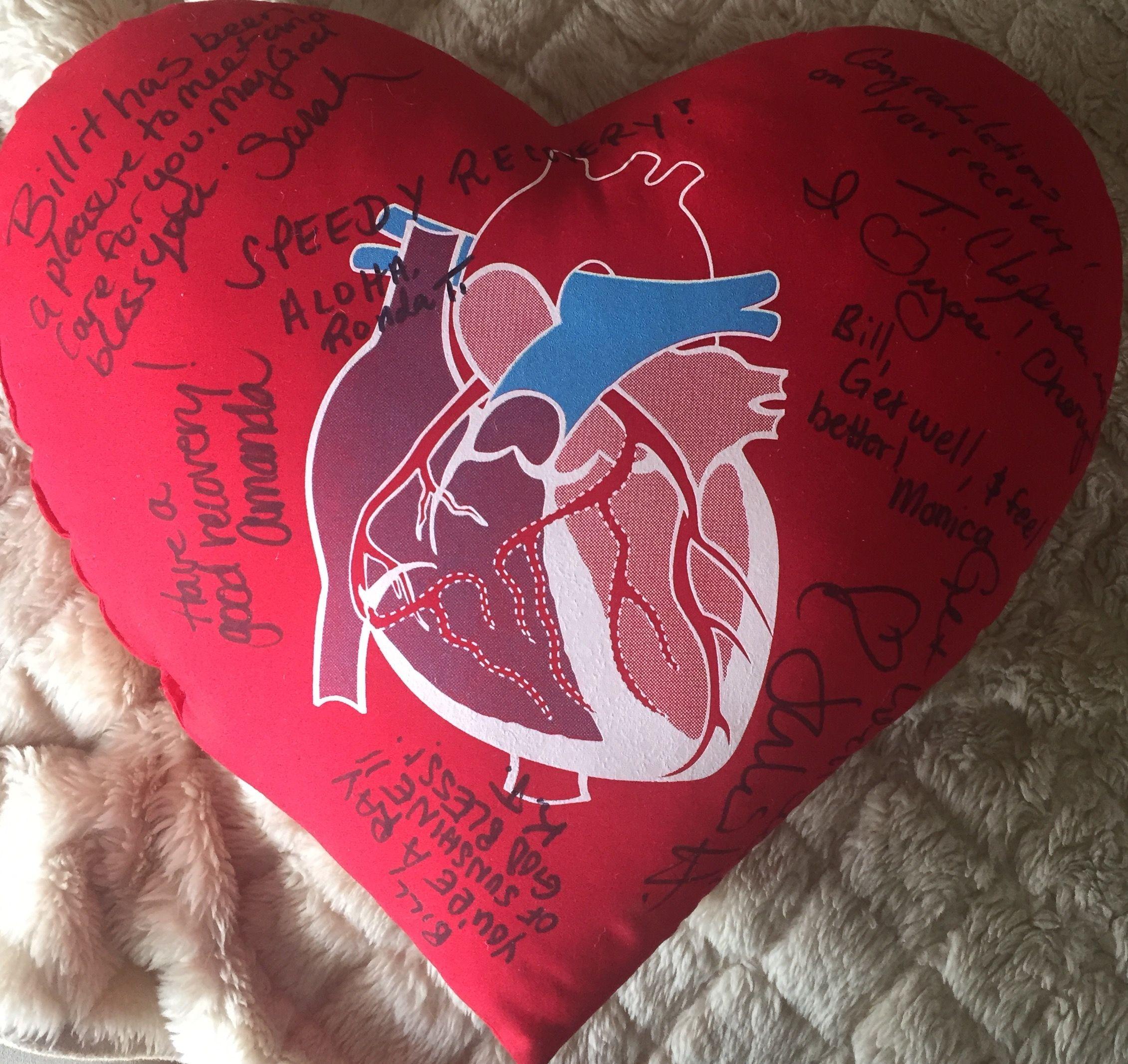 heart operation pillow heart surgery