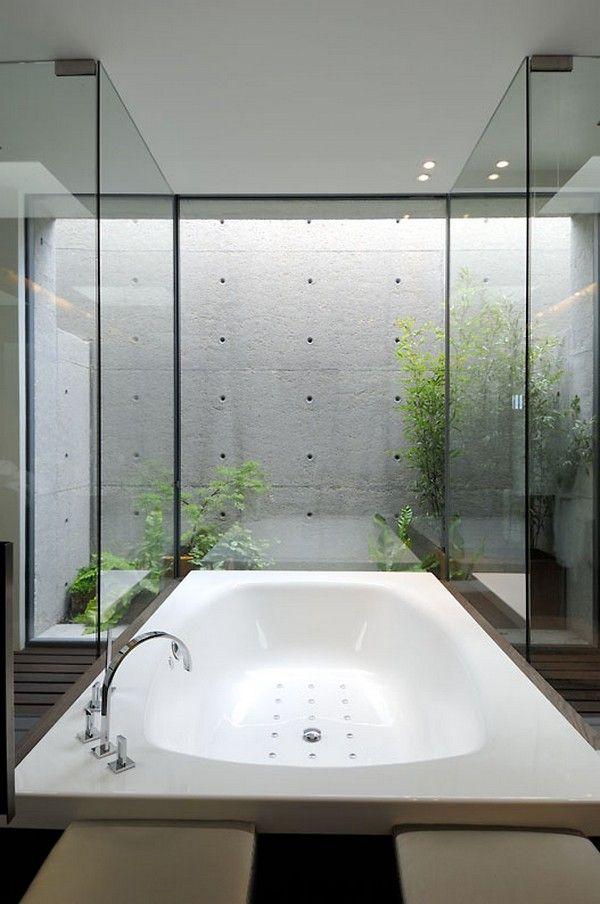 ACERO concrete home - salle de bain pour intérieur contemporain et