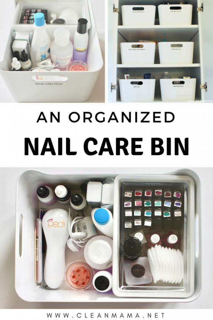 An Organized Nail Care Bin | Top Organizing Bloggers | Nail