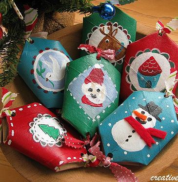 Decoraciones navide as recicladas navidad pinterest - Decoracion con rollos de papel higienico ...