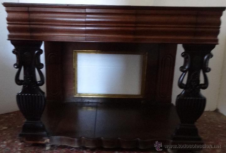 Consola estilo imperio en madera de nogal siglo xix - 675 ...