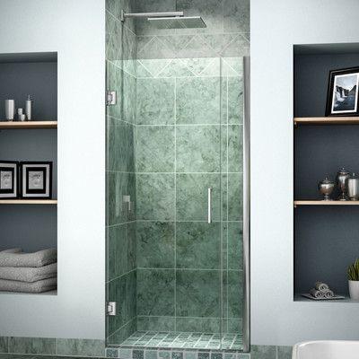 """DreamLine UniDoor 34"""" x 72"""" Hinged Frameless Shower Door Trim Finish:"""