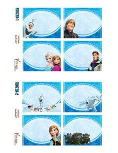 picture about Frozen Party Food Labels Free Printable identified as Pinterest
