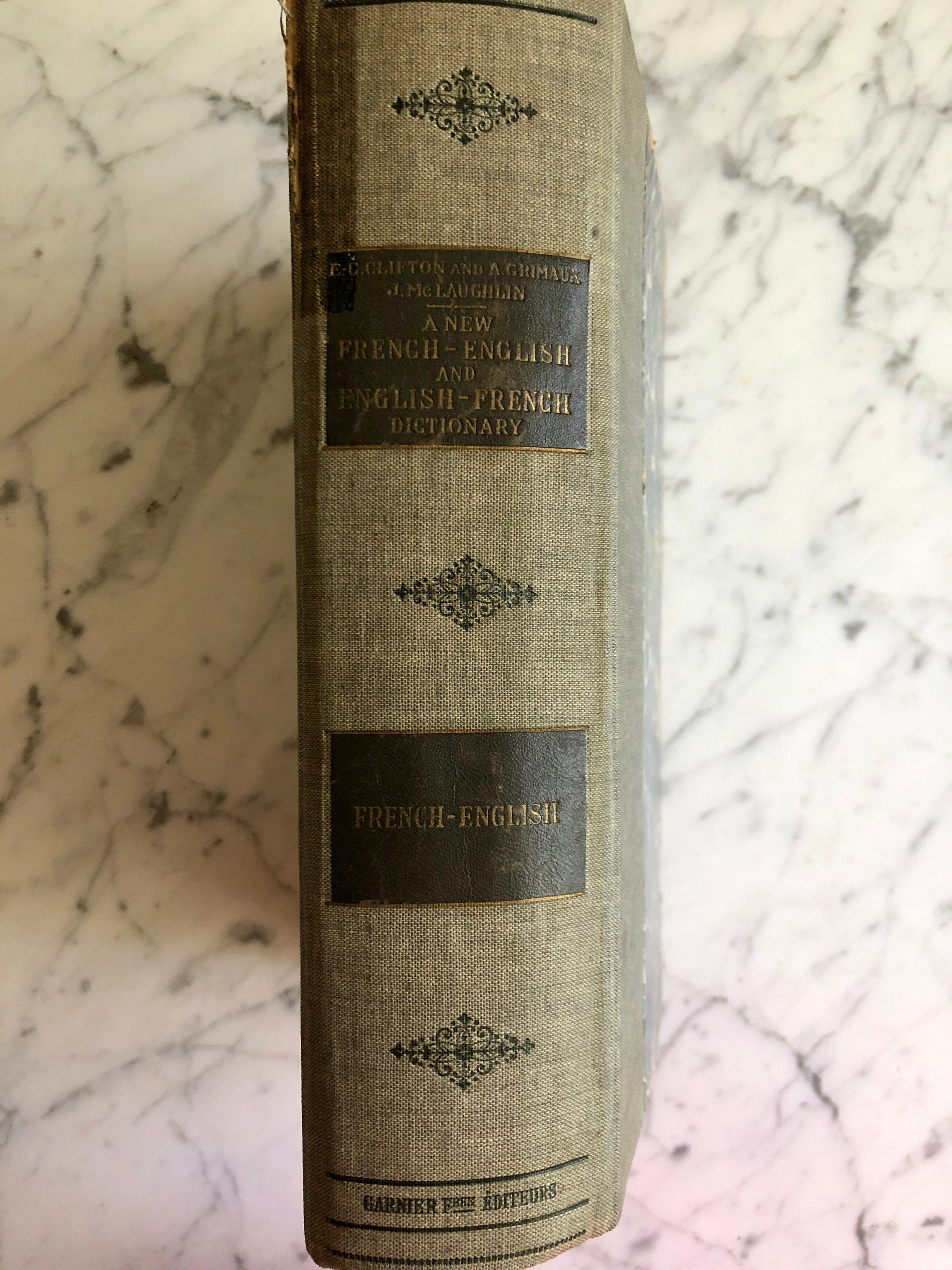 1923 French English and English French Dictionary   Etsy ...
