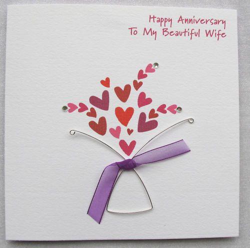 Ruby Wedding Gift Ideas For Husband: Handmade Wedding Anniversary Card Husband Wife Mum Dad In