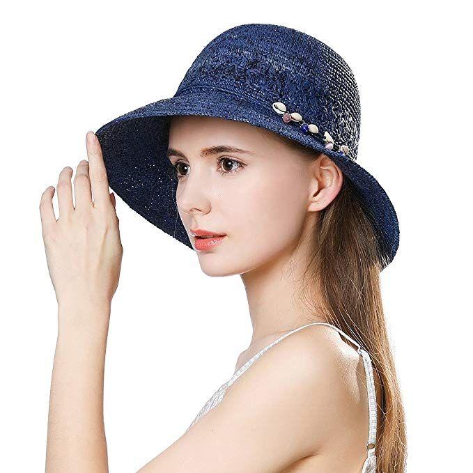 8262074a1867c Packable Raffia Straw Sun Hat Fedora for Women Summer Beach Accessories  Panama Cloche Review