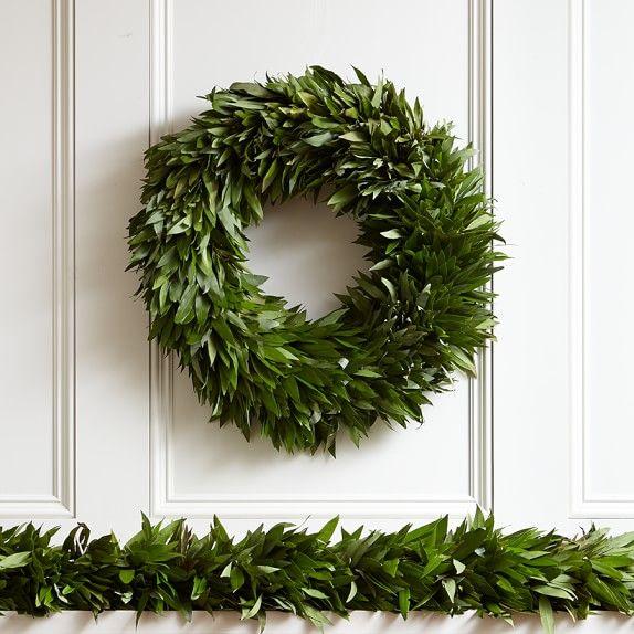 6 8217 Bay Leaf Garland Oct 31 Nov 26 Leaf Wreath Christmas Wreaths Holiday Wreaths