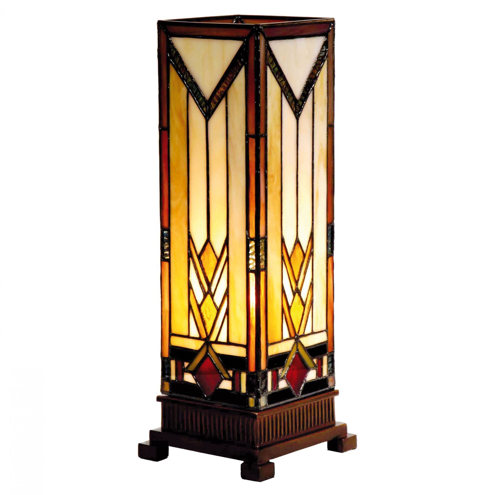 Prairie Medium Tiffany Square Table Lamp By Tiffany Lighting Direct Discover Our Range Special Offers Of Tiffany L Square Table Lamp Stained Glass Lamps Lamp