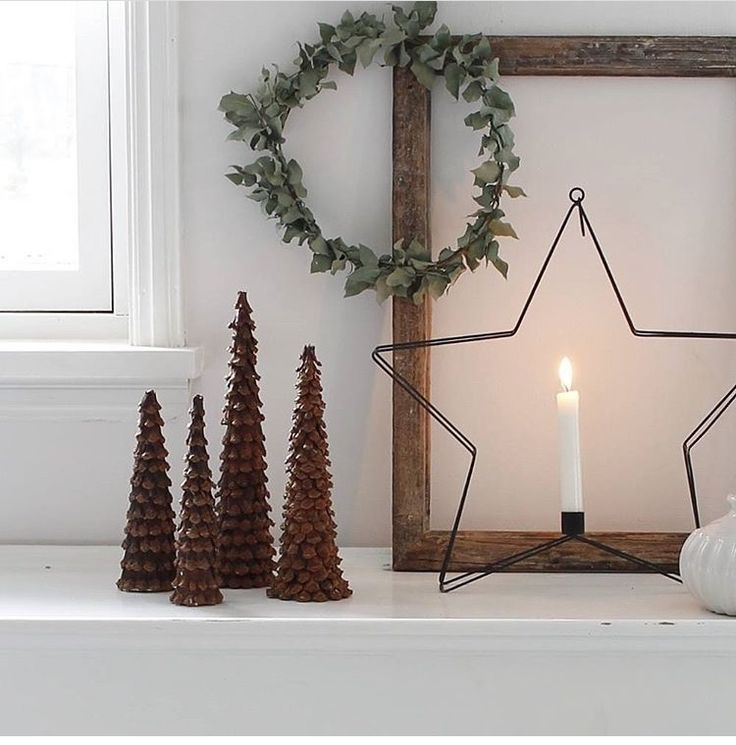 Photo of Christmas scene with eucalyptus wreath