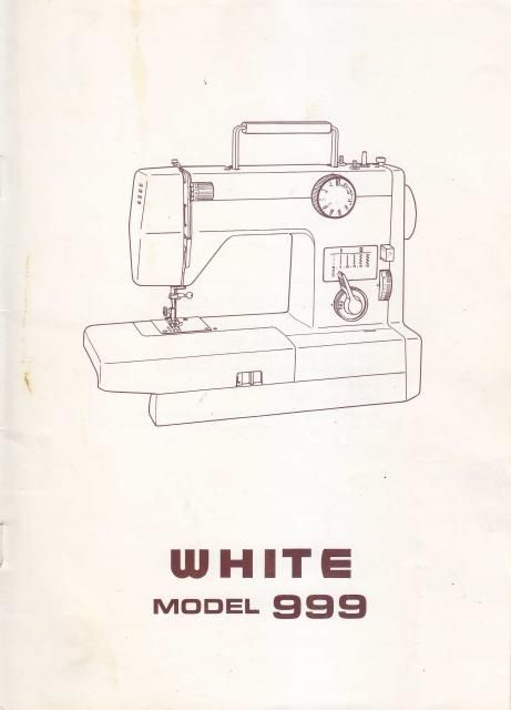 White 40 Sewing Machine Instruction Manual Sewing Machine Manuals Simple White Sewing Machine Bobbin Size