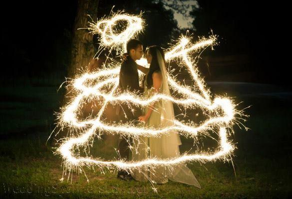 time lapse using 20 inch sparklers from httpweddingsparklersusacomshop