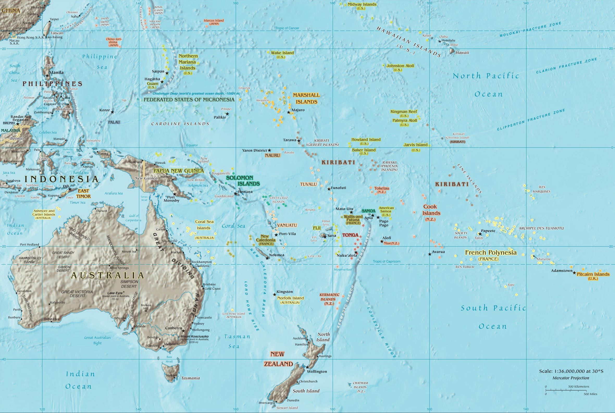 tahiti map of pacific Map Of The South Pacific With Tahiti South Pacific Islands tahiti map of pacific