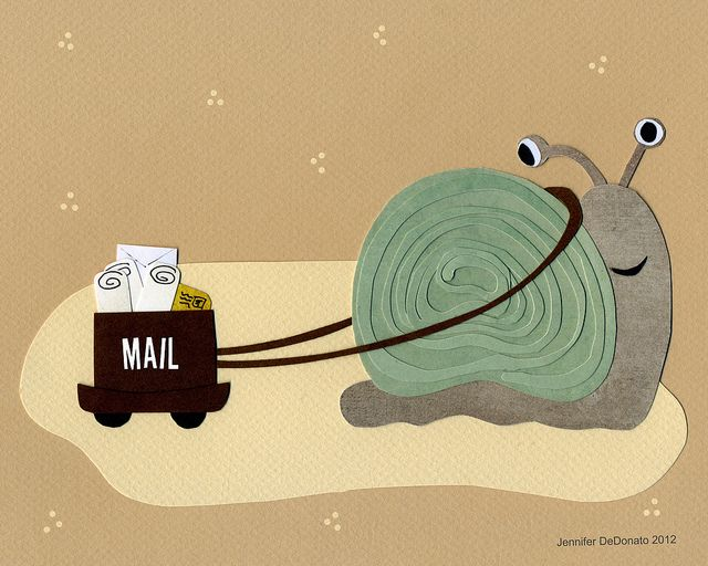 snail mail by Colorfly Studio, via Flickr