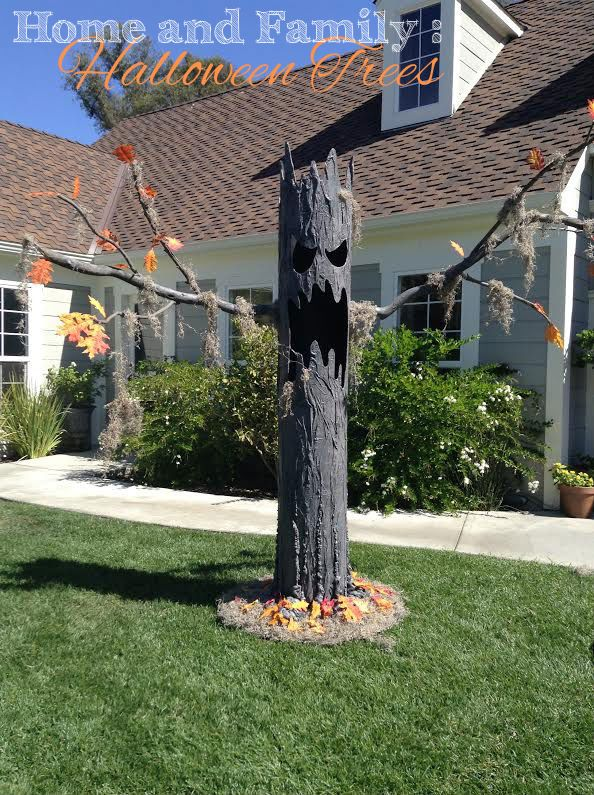 Tmemme28 Makes Spooktacular Halloween Trees Halloween Decoration Scary Trees Homeandfamily Halloween Outside Halloween Tree Decorations Halloween Trees