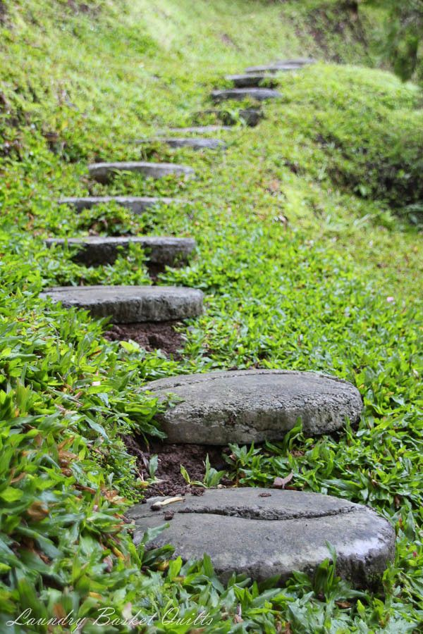 Concrete Stepping Stones On A Slope