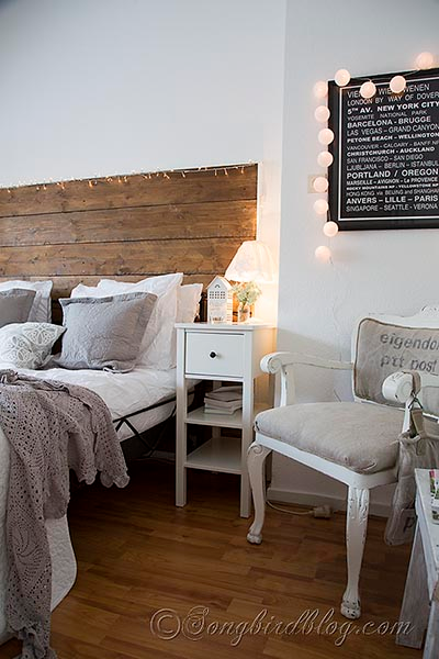 Bedroom Decorating In Grey And White With A Crochet