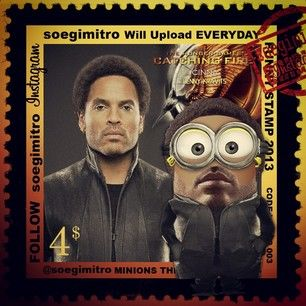 Minion Minions Funny Stamps Catching Fire Soegimitro On Instagram