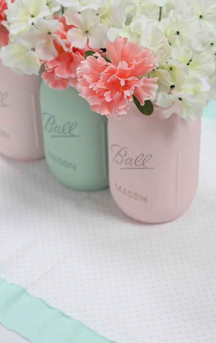 Mint And Green Wedding Ideas Wedding Shower Centerpieces