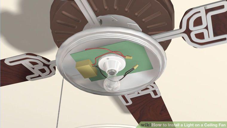 How to install a light on a ceiling fan ceiling fan