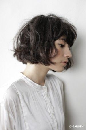 Wavy Bob Heavy Fringe Hair Hair Messy Short Hair Hair Cuts