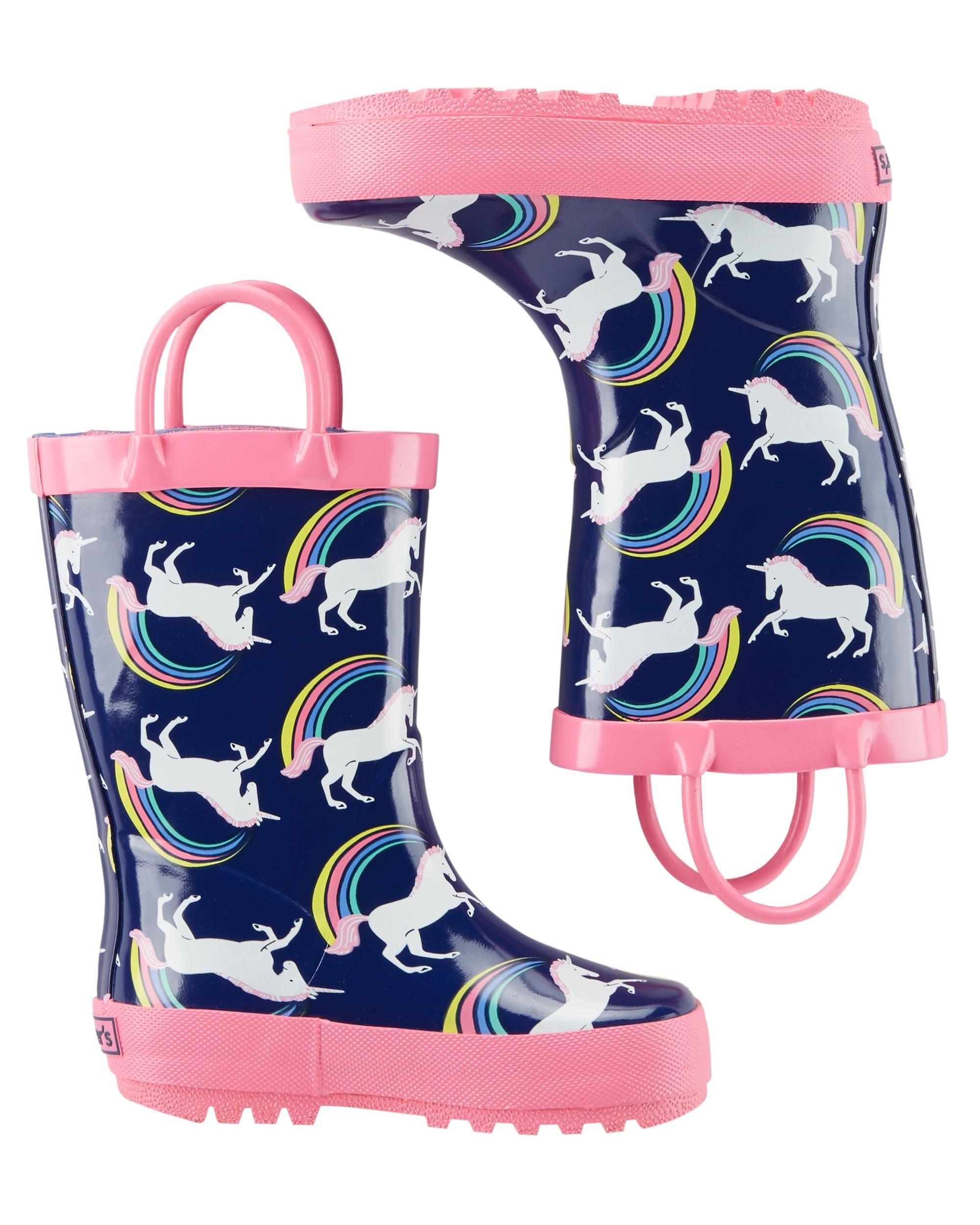 carters girls rain boots