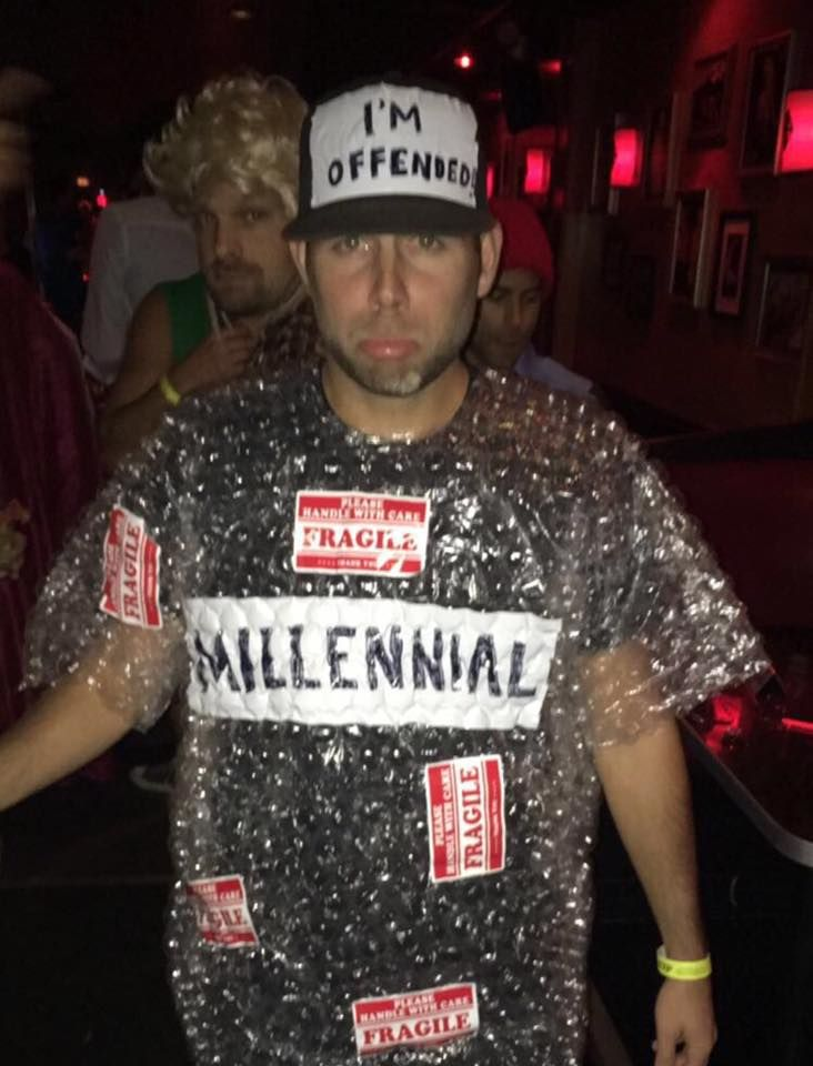 millennial halloween costume fragile stickers
