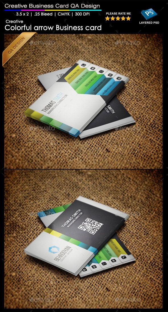 colorful arrow business card card templates business cards and arrow