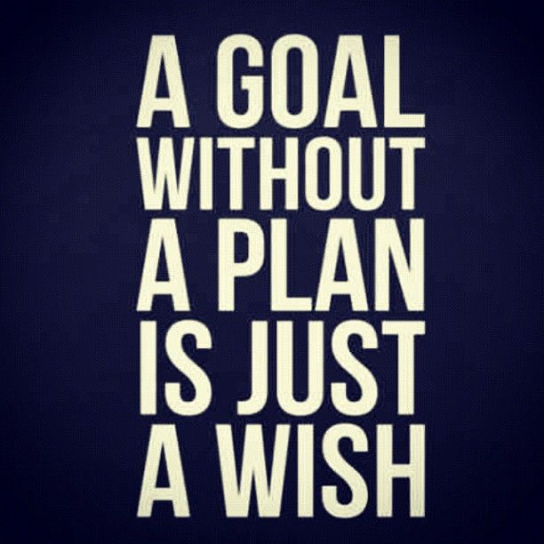 A goal without a plan is just a wish.