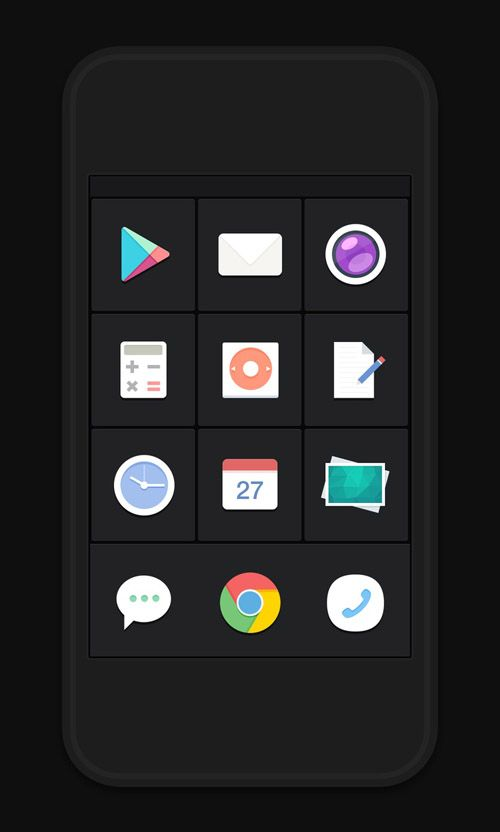40 Beautiful Flat Icons Design Interface De Usuario Smartphone
